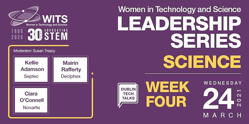 flier for WITS Female Leadership Series - Session 4 Science